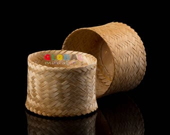 """4"""" Handcrafted Sticky Rice Food Storage Bottle Containers Kitchenware"""