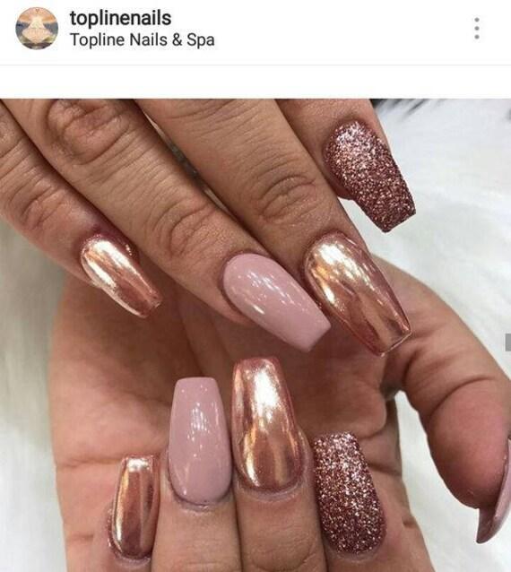 Mirror Chrome Nail Art Powder Pigment Metallic Nail Art - 2017 Nail Trend - Chrome  Nails! - Mirror Chrome Nail Art Powder Pigment Metallic Nail Art 2017