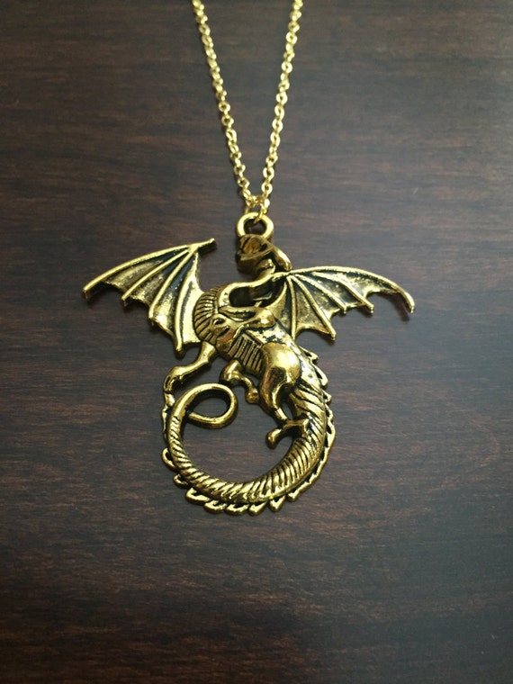 dragon dragon necklace dragon jewelry gold dragon gold