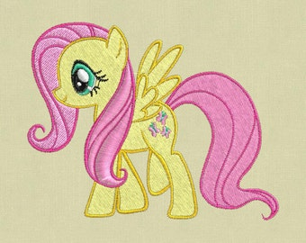 Embroidery design 3 sizes My Little Pony Flatter digital file pes jef hus vp3 xxx