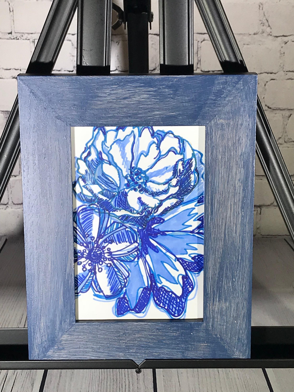 Umrahmt von Blumen Skizze