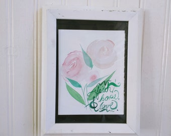 """Pink Watercolor Flowers 
