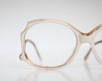 Vintage 70's French Blonde Drop Arm Eyeglasses Sunglass Frames