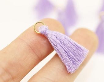 Boho Mini Earring Tassel, Lilac Tassel, mini tassel, tassel bracelet, mala tassel, Tassel, tiny tassel, short tassel, small tassel