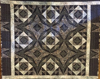 Black and Grey small lap quilt