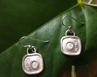 Little Square Fused and Formed Earring