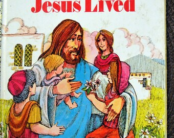 "Vintage Children's Book ""Where Jesus Lived"" Little Golden Book Last Minute Gift"