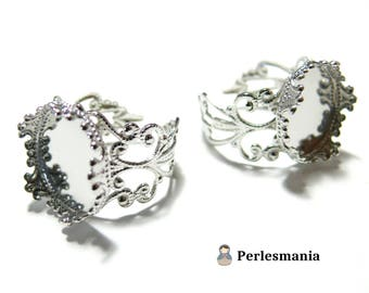 1 ring 15mm PP ring holder lace and Crown ref 10124