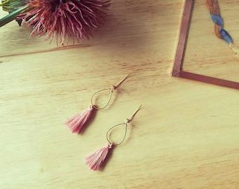 Earrings drops and tassels