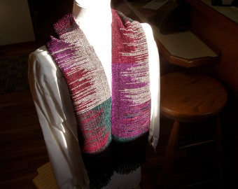 Hand Woven Rayon Chenille Scarf Free Shipping