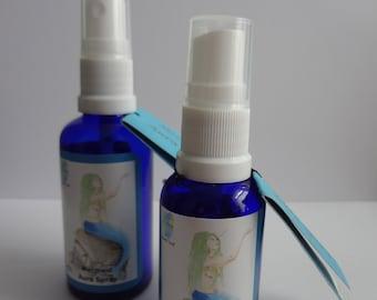 Mermaid Aura Spray, Meditation, Room Fragrance, Essential Oils, Crystal Waters