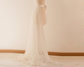 Tulle Skirt, Bachelorette Party, Ivory Tutu, White Tutu, Adult Tutu, Boho Dress, Wedding Skirt, Long Tulle Skirt, Tutu Skirt, Bachelorette