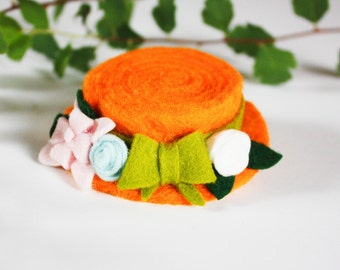 Anne of Green Gables Costume - Unique Hair Accessories - Mini Hat Clip - Anne of Green Gables Hat