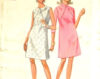 UNCUT Dress with Interesting Seams Bust 38 Butterick 4869