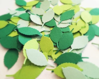 100 GREEN LEAF Confetti Punches
