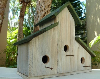 Birdhouse, Rustic Birdhouse, Primitive Bird House, Barnwood Birdhouse, Wood Birdhouse, Large Birdhouse