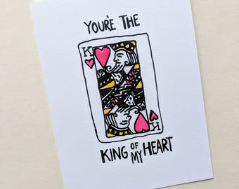 King of my heart- greeting card