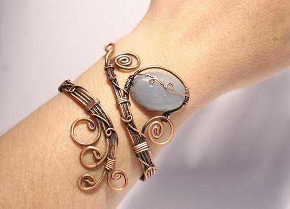 Aventurin Armband Kupfer Kupfer Draht umwickelt kupfernen