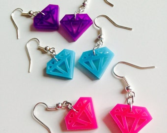 Sale | Diamond | Rockabilly | Old School | Emo | Tattoo | Cute | Earrings | Laser Cut | Acrylic | Set | 3 Pack