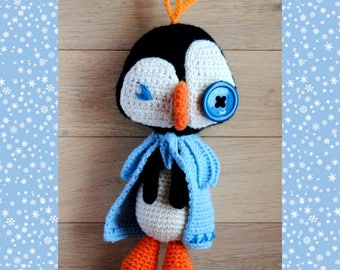 CROCHET PATTERN - The frozen penguin amigurumi