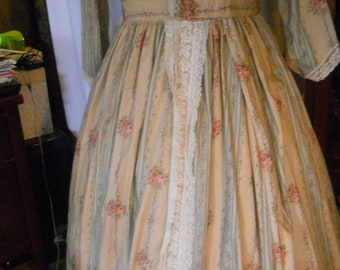 Civil War Period Day Dress, Reenacting, Victorian