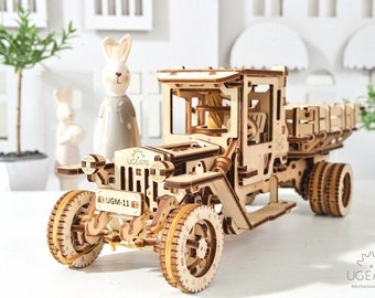 Mechanical UGM 11 Truck 3D Wooden Puzzle by UGears