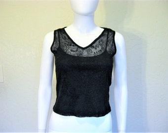 Black 2 piece layered sleeveless Shirt - small