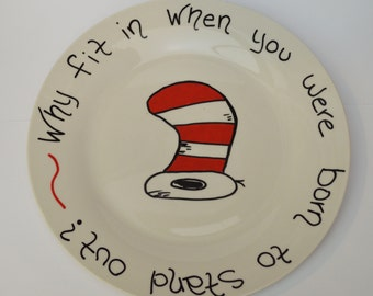Dr Suess Inspired Plate