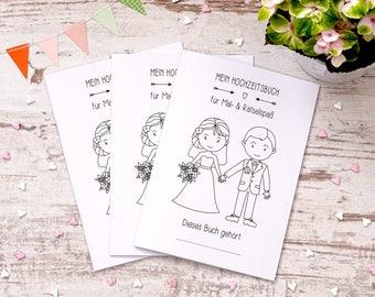 "Wedding coloring book 3 set ""Sweet"" gift"