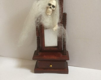 1/12 scale ghost coming out of mirror
