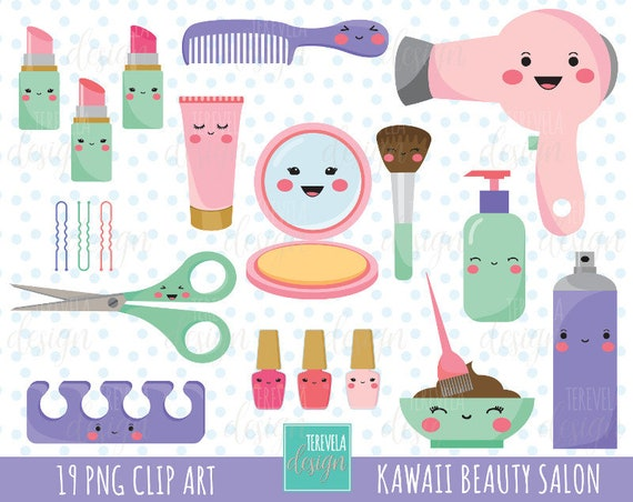50 sale kawaii salon clipart beauty salon clipart rh etsy com beauty clipart commercial use cosmetology clip art free