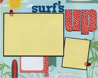 Surf's Up - Catch a Wave - 12x12 Premade Scrapbook Page