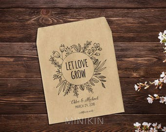 Custom Seed Packet Favors Unique Favor Seed Favors Wedding Rustic Wedding Decor Country Wedding Barn Wedding Seed Envelopes Rustic x 25