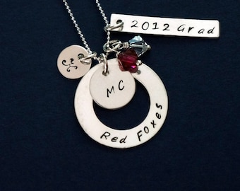 College Gift, High School Graduation Gift, Sorority Gift - .925 Sterling Silver Chain, Personalized, Graduation Gift