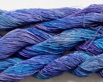 Rayon Gimp, 150 yds, Hand painted yarn for jewelry - Night Sky