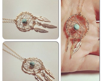 Gold filled Dream catcher necklace