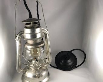 Silver Lantern Pendant Light