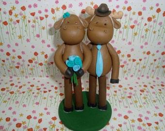 Custom Handmade Moose Cake Topper