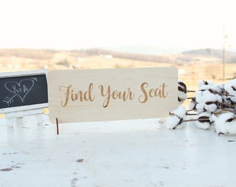 Find Your Seat Sign Rustic Wedding Table Wedding Seating Chart