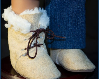 "Ugg Style Doll Boots, High Top, Lace Up, Doll Accessories that fit your American Girl & American Boy Style 18"" Dolls!"