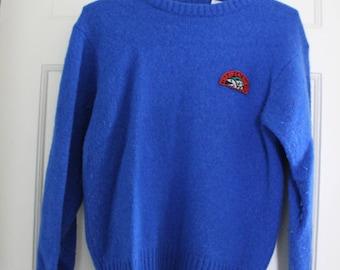XS - Blue 100% Wool Sweater