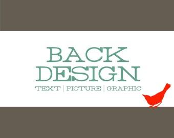 BACK DESIGN Modification: Add Picture,Text or Graphic to Back of Invitation Design - 104204198