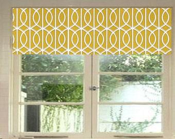 Robert Allen - Dwell Studio - Valance - Gate Citrine - Grey - Curtain - Window Treatment