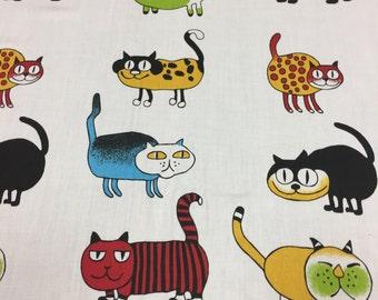 Fabric, cat  fabric, kids fabric, satin cotton fabric, Scandinavian Fabric, Scandinavian design