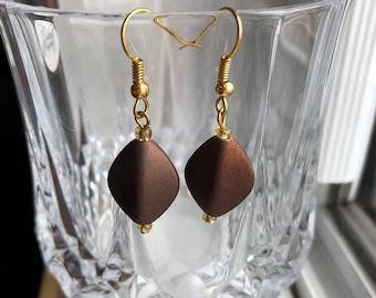 Rustic Brown Earrings
