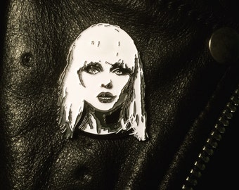 "Debbie Harry Blondie 1 3/4"" soft enamel pin"