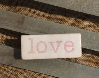 Pink Love sign valentines decor pink love sign  home decor wedding decor love wood sign