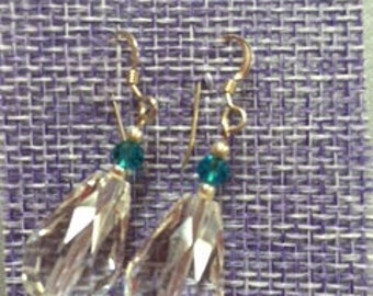 925 sterling silver earrings with crystal beads