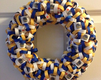 Golden State Warriors Ribbon Wreath - MADE TO ORDER