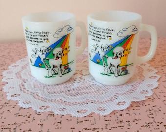 Vintage Anchor Hocking coffee mugs